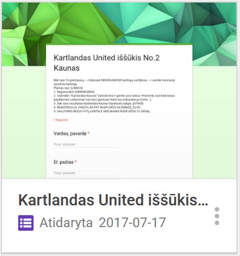 Registracija Kartlandas