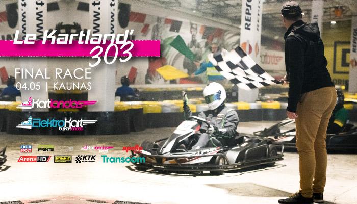 Le Kartland'303 lenktynės. REGISTRUOKIS į 4 etapą